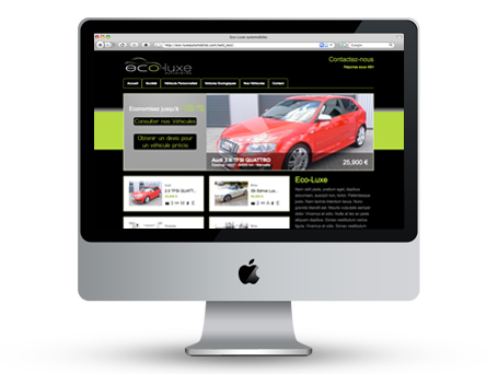 Site Internet pour Eco-Luxe Automobiles Preview