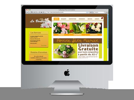 Site Internet pour La Boutique Fleurs Preview