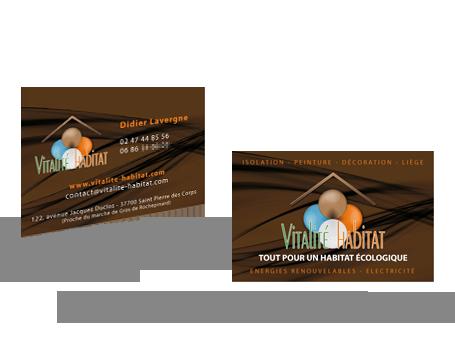 Carte de Visite pour Vitalité Habitat Preview