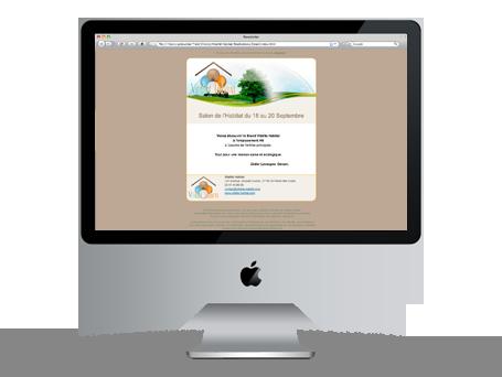 Emailing pour Vitalité Habitat Preview